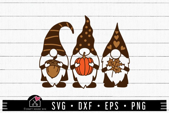 Download Free Fall Gnomes SVGS in 2020 | Svg, Free svg, Crafts