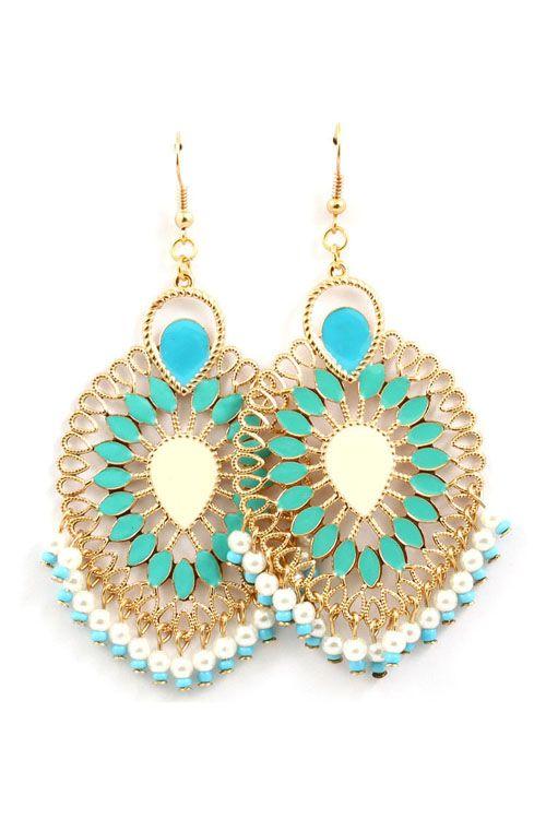 Turquoise Chloe Boho Earrings