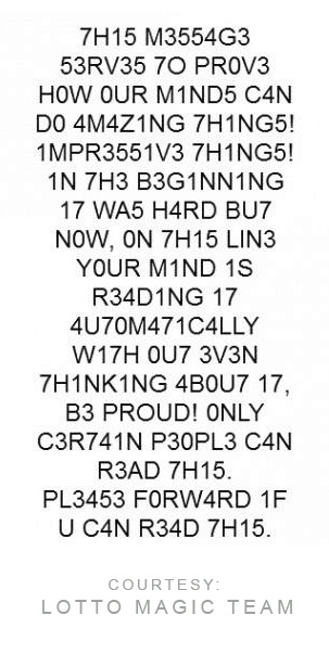 So. Are YOU (your brain) smart enough to automatically decode this sentence easily? Test yourself. :-)