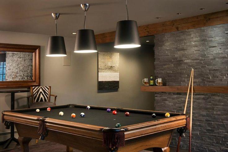Basement Pool Room Ideas | Pinney Designs - basements - games room, pool room, pool table, man ...