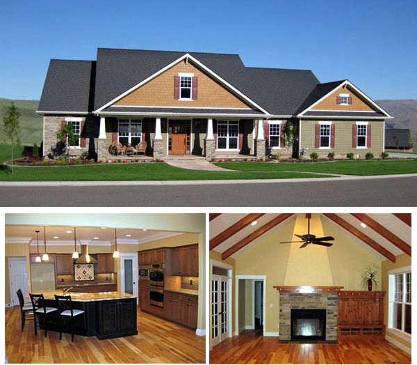 Craftsman home plan 59947 home columns and read more for Craftsman siding