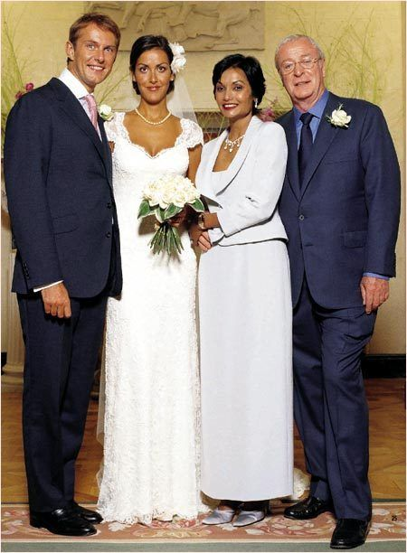 Michael Caine and wife at daughter's Natasha's-Wedding