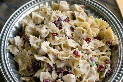 Chicken Poppyseed Pasta Salad.....looks great and easy too.  Good for the summer.