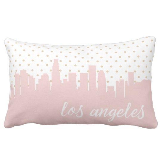 Los Angeles, rosa Tupfen Kaliforniens Zierkissen