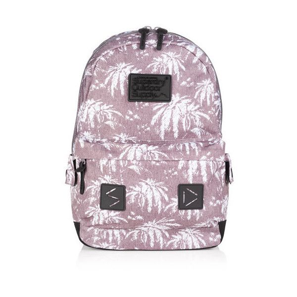 Superdry Moody Marl Montana Rucksack ($50) ❤ liked on Polyvore featuring bags, backpacks, grey, superdry backpack, zipper bag, superdry, strap backpack and logo bags
