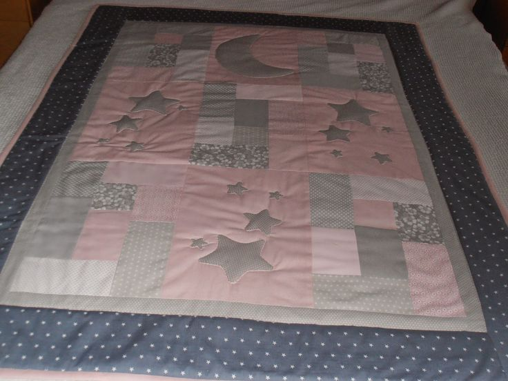 114 best patchwork baby quilt images on pinterest - Colchas cuna patchwork ...