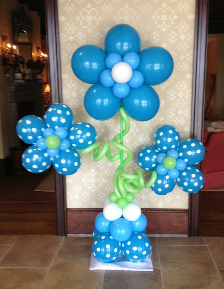blue flower centerpieces for baby shower - Google Search