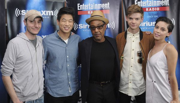 Thomas Brodie-Sangster Photos Photos - Director Wes Ball and actors Ki Hong Lee, Giancarlo Esposito, Thomas Brodie-Sangster and Rosa Salazar attend SiriusXM's Entertainment Weekly Radio Channel Broadcasts From Comic-Con 2015 at Hard Rock Hotel San Diego on July 11, 2015 in San Diego, California. - SiriusXM's Entertainment Weekly Radio Channel Broadcasts from Comic-Con 2015