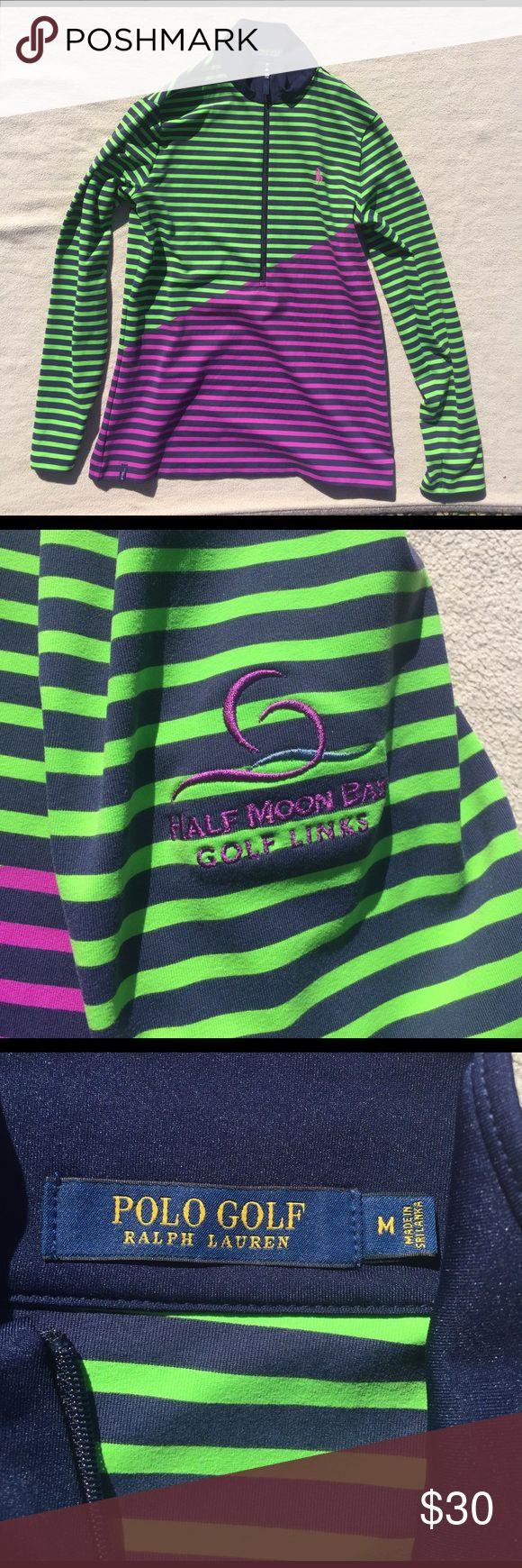 Ralph Lauren Golf Long Sleeve Polo Medium. Half Moon Bay Logo on the side of sleeve Polo by Ralph Lauren Tops