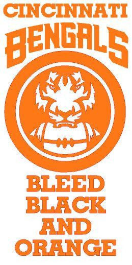 Man Cave Game Room Wall Decal Cincinnati Bengals Bleed Black Orange 11 x 23 in