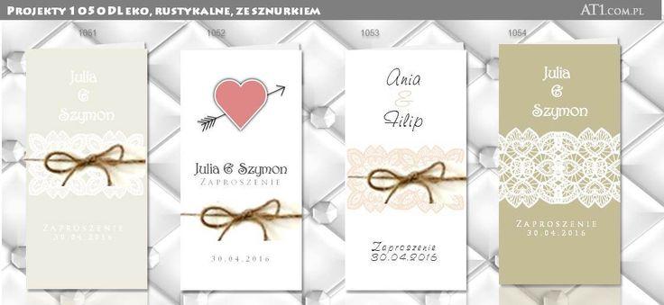 Zaproszenia DL rustykalne ekologiczne ze sznurkiem, sucha beskidzka kraków www.at1.com.pl zaproszenia na ślub zaproszenia oryginalne nietypowe: