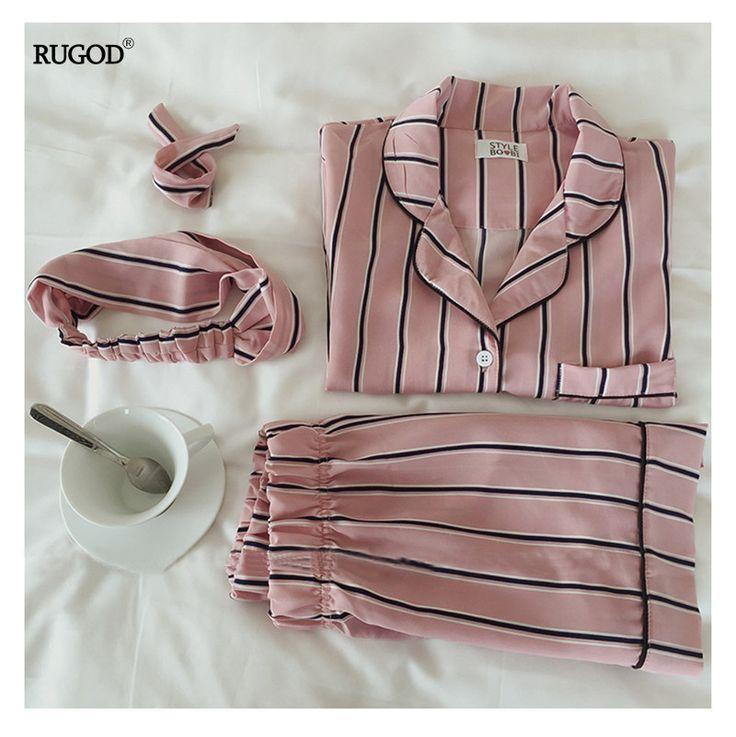 #aliexpress, #fashion, #outfit, #apparel, #shoes #aliexpress, #RUGOD, #Summer, #Fashion, #Women, #Pajamas, #Collar, #Sleepwear, #Piece, #Shirt, #Shorts, #Striped, #Casual, #Pajama