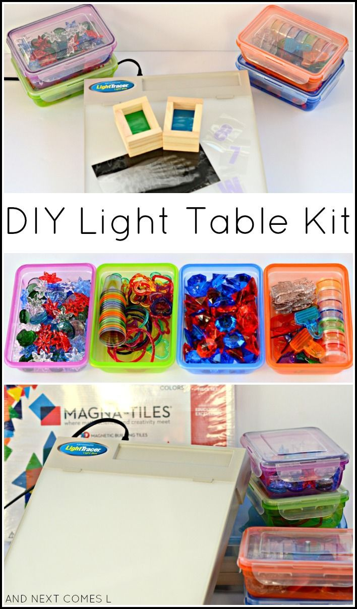 Child craft light table - Diy Light Table Kit For Kids That Includes Lots Of Dollar Store Items And Homemade Accessories