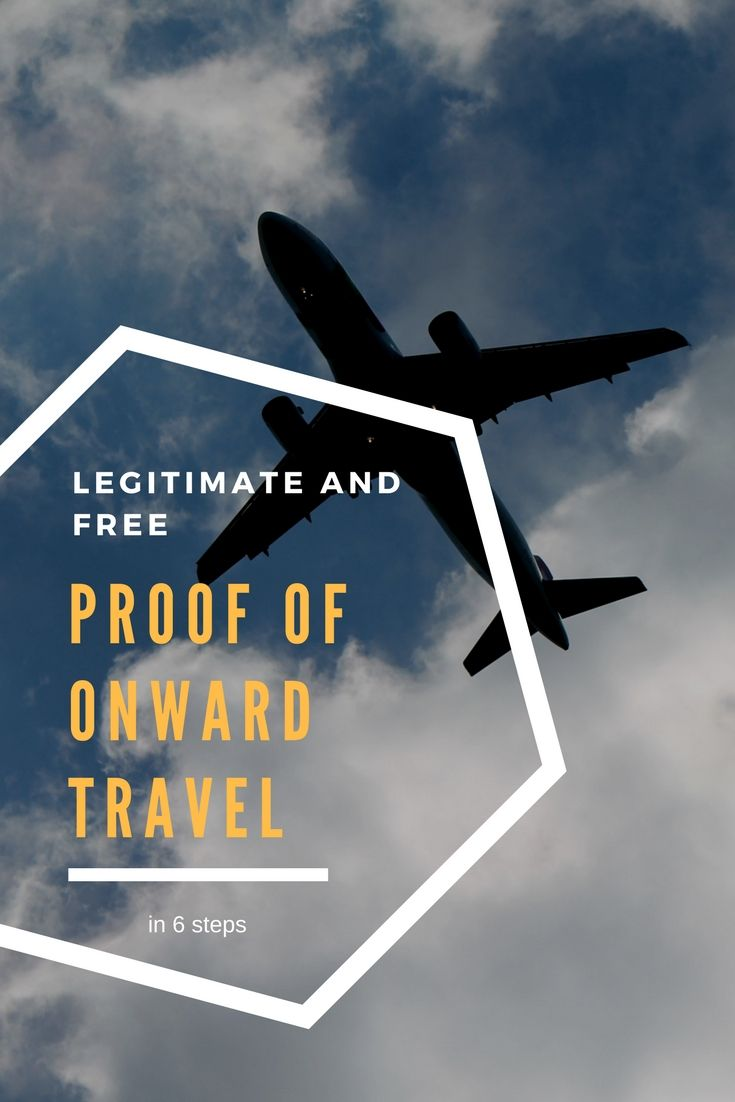 How to get legitimate Proof of onward travel or an exit ticket without paying in 6 easy steps. #travel #proof #onwardtravel #exit #ticket #flight #free #legitimate
