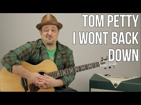 Tom Petty - I Won't Back Down - Guitar Lesson - How to play on Acoustic Guitar - YouTube