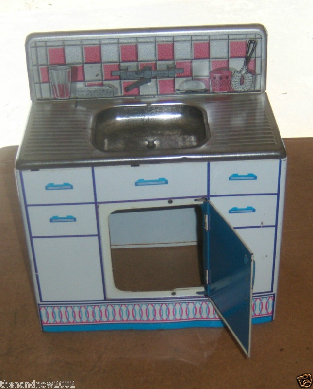 Image detail for -1950 Vintage Wolverine Play Tin Toy Kitchen Sink ...