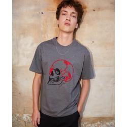 The Kooples - Skull embroidered grey cotton t-shirt - Damenthekooples.com