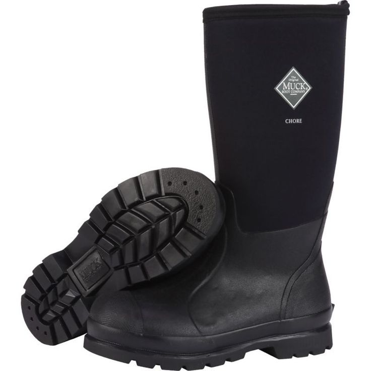 Muck Boot Men's Chore Met Guard Steel Toe Work Boots, Size: 14, Black