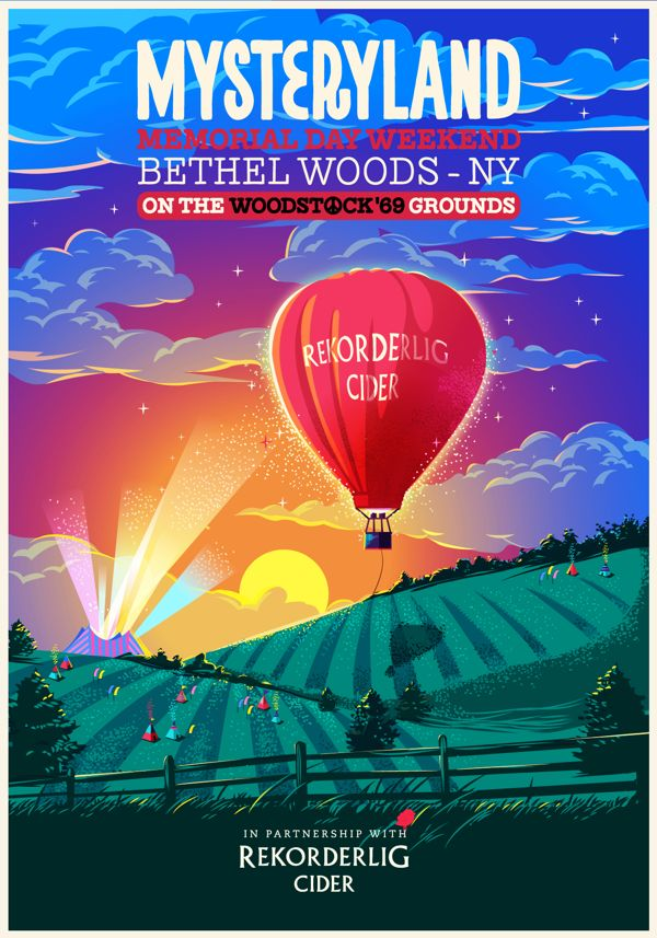 Mysteryland Festival at the iconic Woodstock Grounds. The campaign ran in a wheat pasting campaign all around NewYork City.