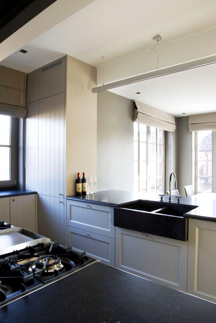 Belgian Tones | Kitchen | Stone Sink | Blinds | Realisatie Roeselare