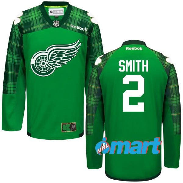 04c557ff4ce ... Detroit Red Wings Brendan SMITH 2 Official Home Reebok Premier Replica  NHL Hockey Jersey (HAND ...