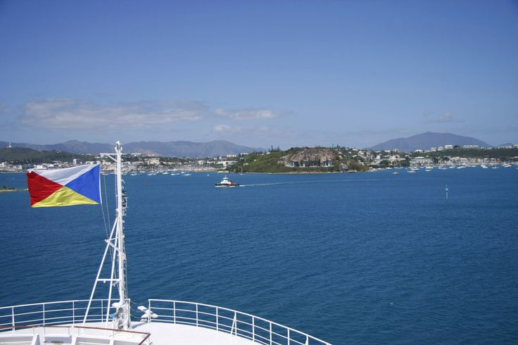 Entering the port of Beautiful Noumea on a sunny day in the South Pacific island of New Caledonia