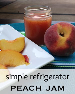 Peach Refrigerator Jam Recipe. 4 ingredients. No canning. #jam #jelly