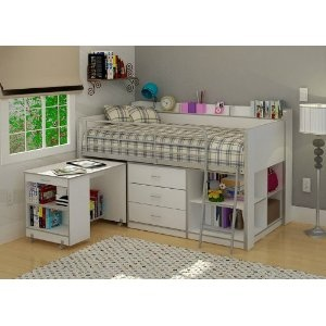 Rack Furniture Clairmont Loft bed,White
