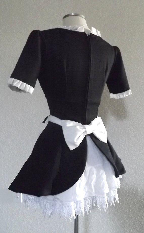 Vintage French Maid Uniform Halloween Costume