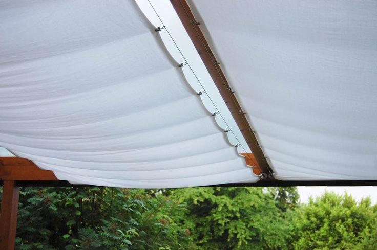 Sonnenschutz für die Terrassenüberdachung nähen   – Vanessa Nießen