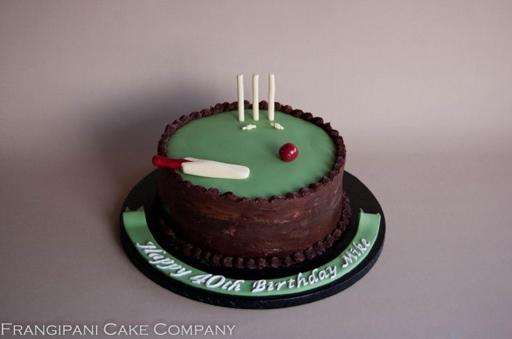 Cricket Bat Cake Images : A cricket lovers 40th chocolate fudge birthday cake ...