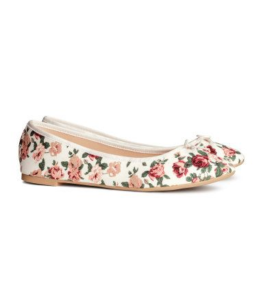 Floral Ballet Pumps from H&M