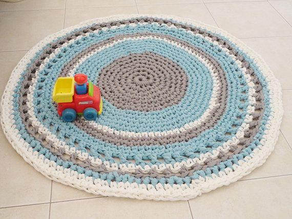 Crochet Rug Round Rug Boy Nursery Rug Nursery Rugs
