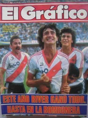 El Grafico  River Campeon 86 Alonso Pelota Naranja