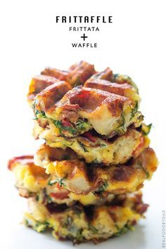 Frittaffle, potatoes, eggs, cheese, veggies, cooked in a waffle iron - from Real Food by Dad