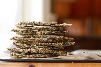 """Endurance Crackers: Very seedy.  The """"Wheat Thin"""" recipe works so well, but I'll have to try these too. [Note from recipe developer: They are vegan, gluten-free, soy-free, nut-free, sugar-free, and oil-free to boot!]"""