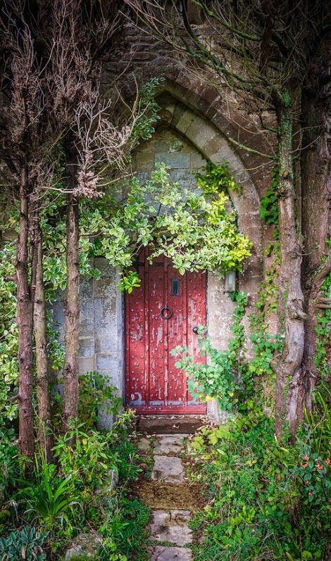 wouldn't you just love to see what is behind this lovely old door?