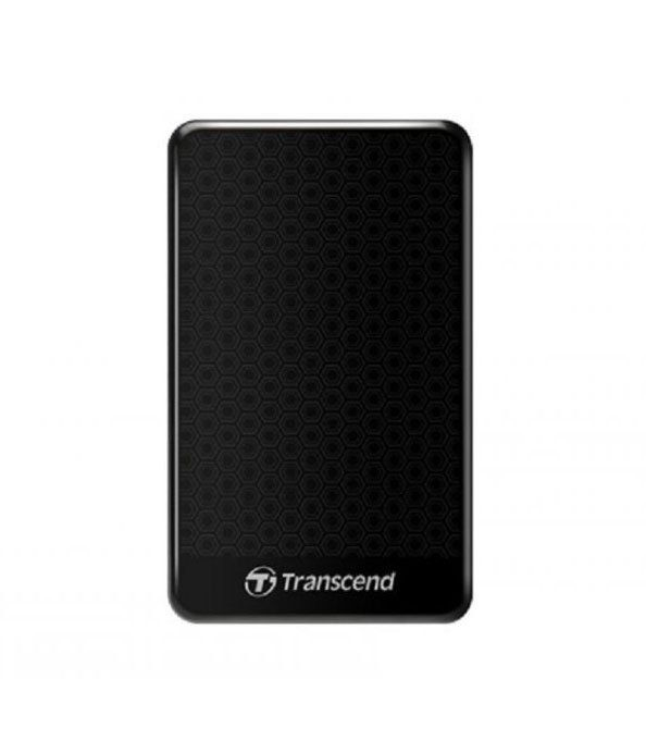 Hardisk External StoreJet 25A3 1TB by Transcend. StoreJet 25A3 (USB 3.0), black external hardisk, StoreJet 25A3, with anti shock, with slim design, featurea SuperSpeed USB 3.0 interface and auto back up button. http://www.zocko.com/z/JI05V