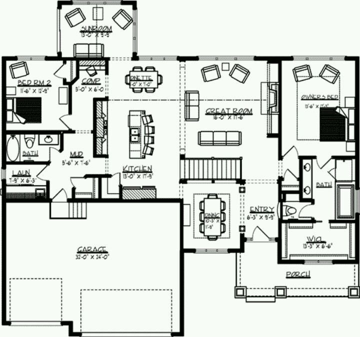 1st Floor Sunroom To Deck Over Walkout Basement: House Plans And Houses