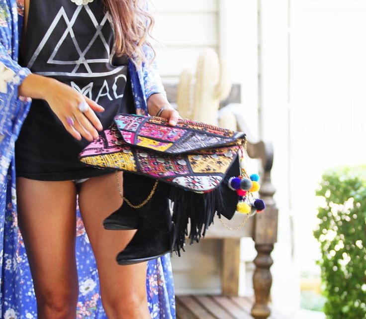"""@threadedearth 🌵Shop these goodies 👉🏼Banjara Clutch for $50 and Nomad tank $24.50 🌵 (link in bio)"""""""