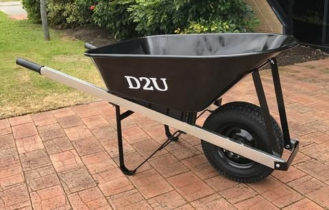 100L Tradesman Wheelbarrow with Pneumatic wide 16'' wheel. Suitable for carting concrete, bricks, and building materials. They tray is a tough steel. Dimensions 650mm x 630mm x 1530mm