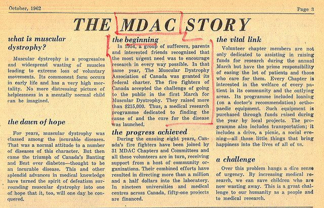 Excerpt from the Muscular Dystrophy Reporter, October 1962