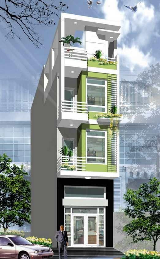 thiết kế nhà ống đẹp và phong cách, kiểu kiến trúc nhà hiện đại của châu âu,