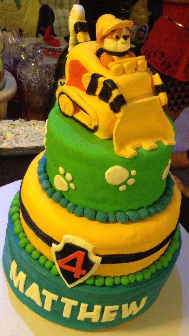 paw patrol rubble cakes