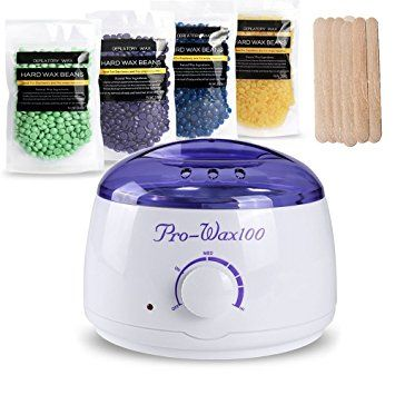 Hair Removal Waxing Kit Electric Wax Warmer Heater with Hard Wax Beans(Tea Tree,… Review