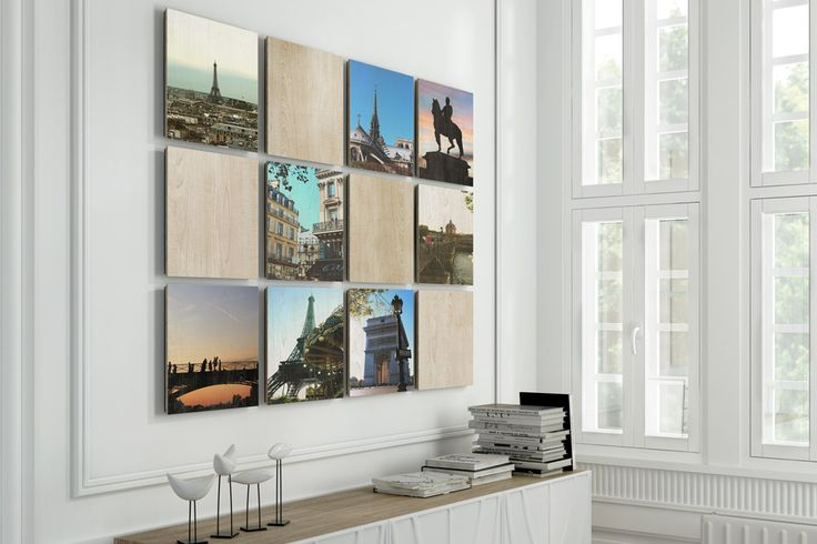 Instagram gallery wall with wood | Beyondprint