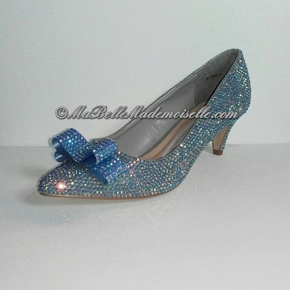 Blue Wedding Shoes Bling Shoes Crystal Bridal by MademoiselleShoes