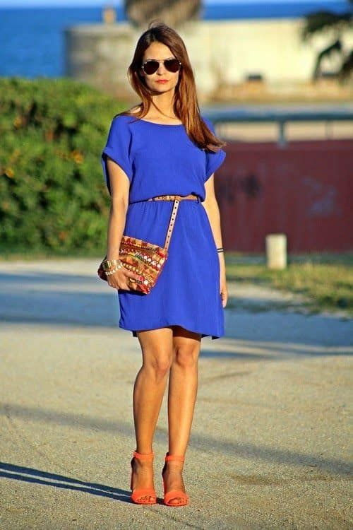 ¿Cómo Combinar un Vestido Azul? — [ 20 Looks ] | Electric blue dresses, Blue dress outfits, Jumpsuit dress
