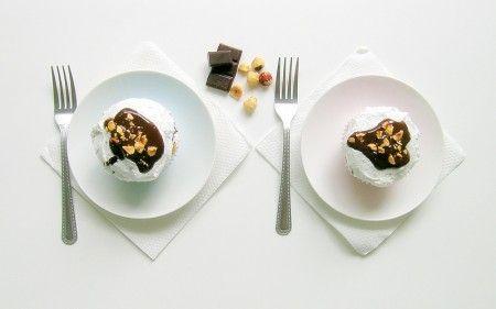 meringue met hazelnoot en chocolade