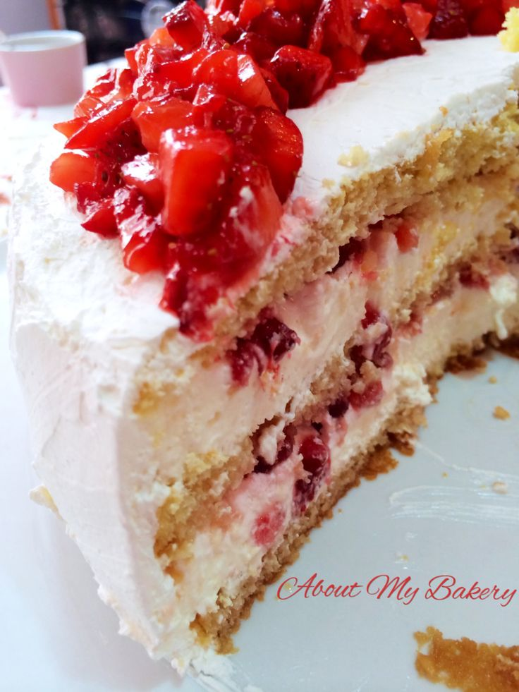 Torta Desiderio alle Fragole | About My Bakery #fragole #mamma #torta #desiderio #festa